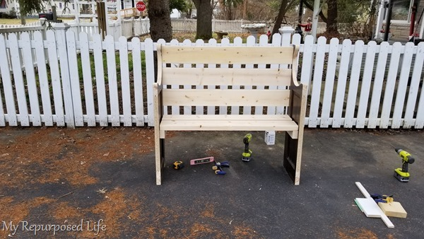 designing and building a bench made from a door
