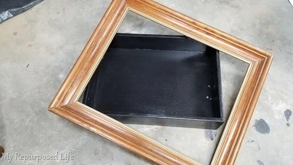 drawer and picture frame make shadow box