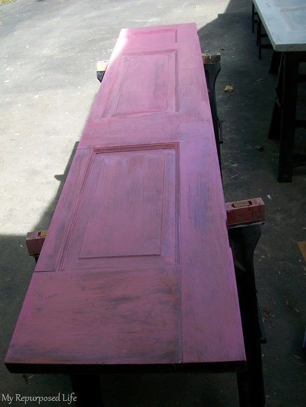 pink primer under red paint