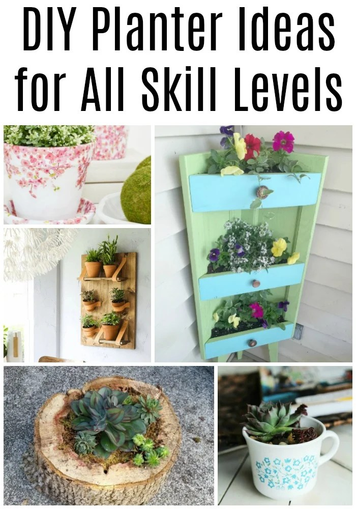 So many fun and unique planter ideas for Spring and Summer. Ideas to build your own simple planters, or repurpose items you probably have on hand. Something for everyone in this collection of planter ideas. #MyRepurposedLife #planters #repurposed #diy #beginners #intermediate #junky via @repurposedlife