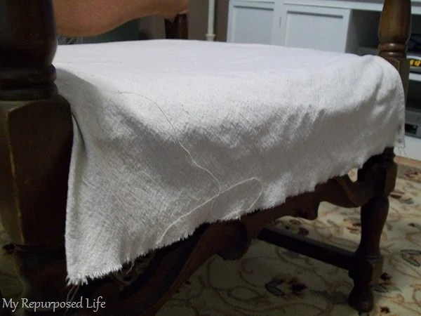 drop cloth - great alternative for an easy slipcover