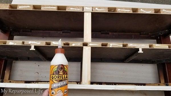 wood glue holds on plywood back