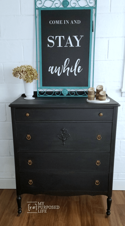 easy chest of drawers makeover MyRepurposedLife