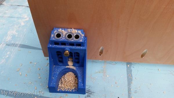 kreg jig pocket holes for shelving