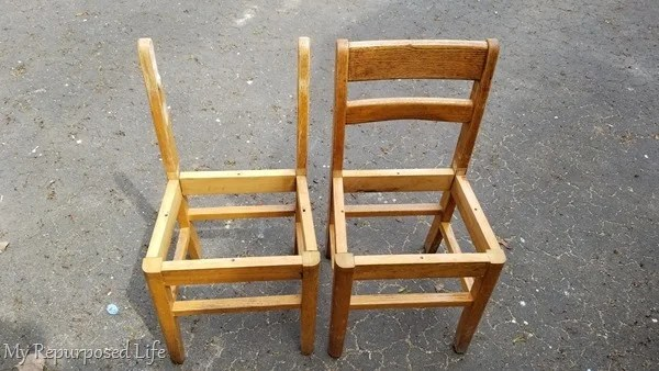 school chair with and without back rungs
