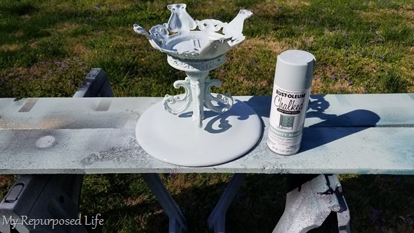 spray paint lamp base pedestal