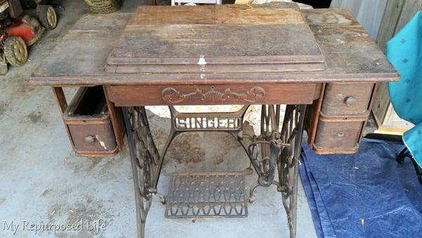 Repurposed Singer Sewing Machine