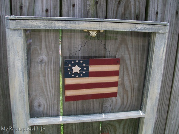 repurposed window project for the 4th of July