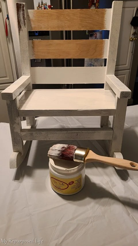 painting small doll rocking chair