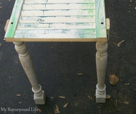 shutter garden bench base