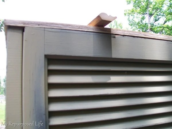 building a shutter cupboard