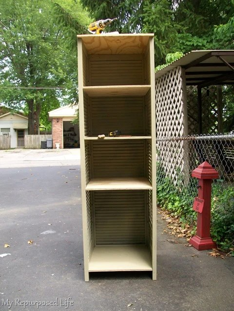 how to make a shutter cupboard