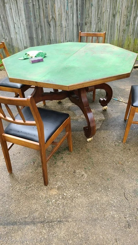 damaged dining table