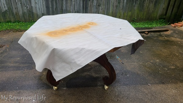 octagon dining table makeover