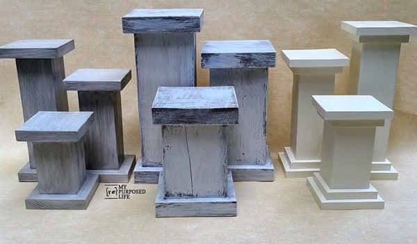 chunky pedestal plant and candle holders MyRepurposedLife