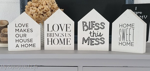 decorative wooden houses with cute sayings