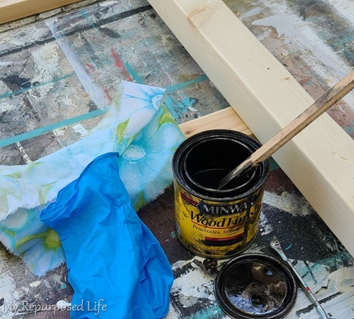 ebony stain farmhouse ladder