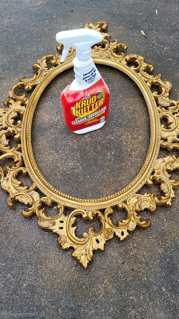 krud kutter cleans ornate frame