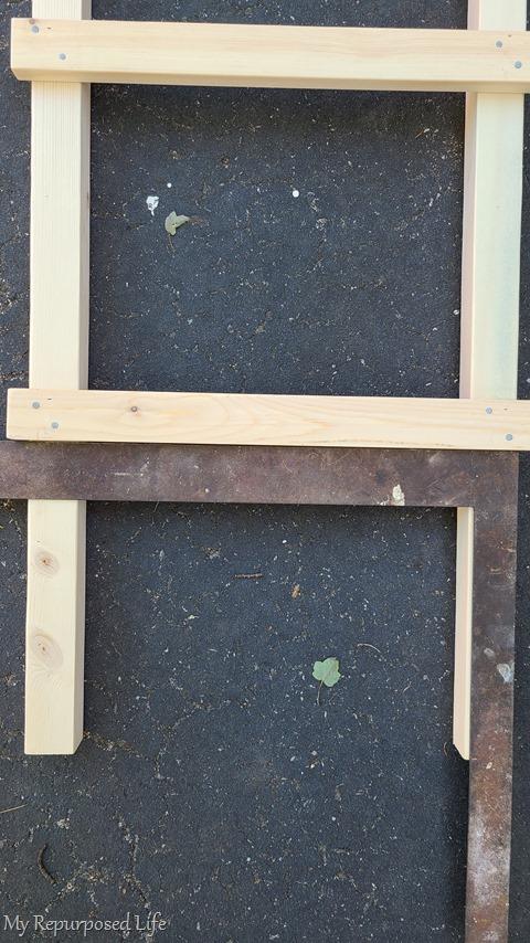 square on ladder