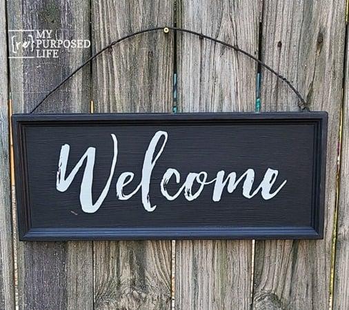 welcome sign repurposed drawer front MyRepurposedLife