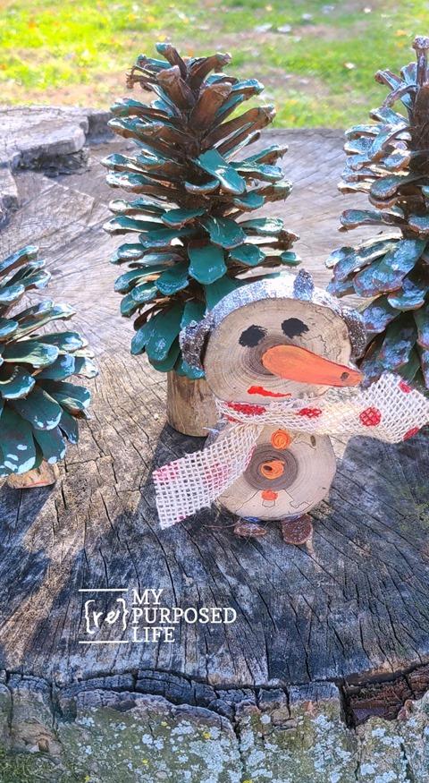 tree branch Christmas Decorations snowman MyRepurposedLife