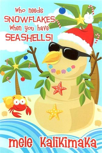 SEASHELL SANDMAN CHRISTMAS CARDS 10
