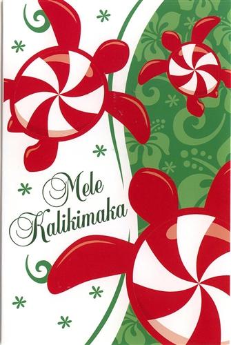 PEPPERMINT HONU CHRISTMAS CARDS 10