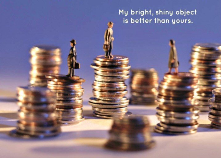 Goals, Bright Shiny Objects or Competitors?
