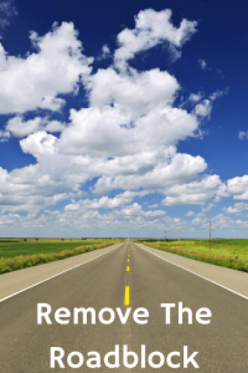 Knock Down The Competition Roadblock