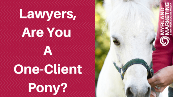 Lawyers, Are You A One-Client Pony