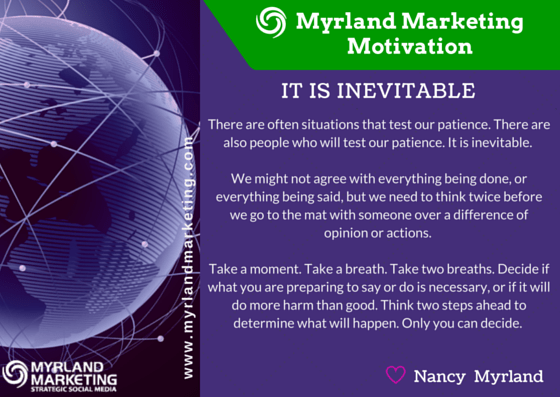 Myrland Marketing Motivation, A Little Virtual Encouragement To Start Your Week