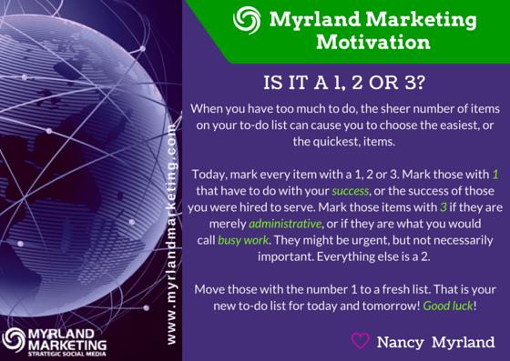 Myrland Marketing Motivation - A Little Virtual Encouragement To Start Your Week