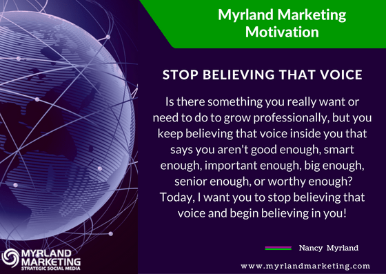 Stop Believing That Voice