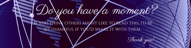 Do you have a moment to share my blog post?