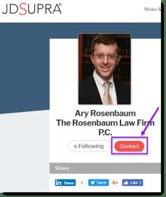 JD Supra Contact Button for Ary Rosenbaum
