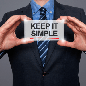 When blogging, keep it simple