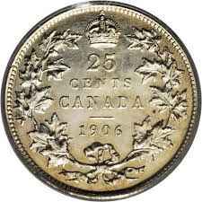 Rare Canadian Quarters: 1906 small crown