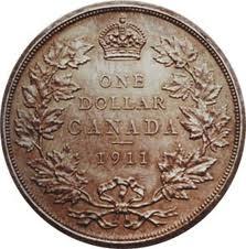 top 10 rare Canadian coins 1911 silver dollar