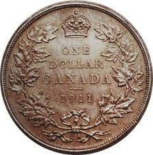 top 10 rare Canadian coins 1911 silver dollar