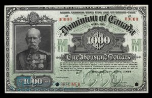 1924 Dominion of Canada Thousand Dollar Bill