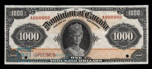1925 Dominion of Canada Thousand Dollar Bill