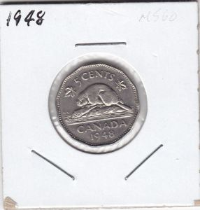 1948 5 cents