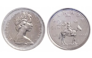 Rare Canadian Quarters: 1973 large bust quarter