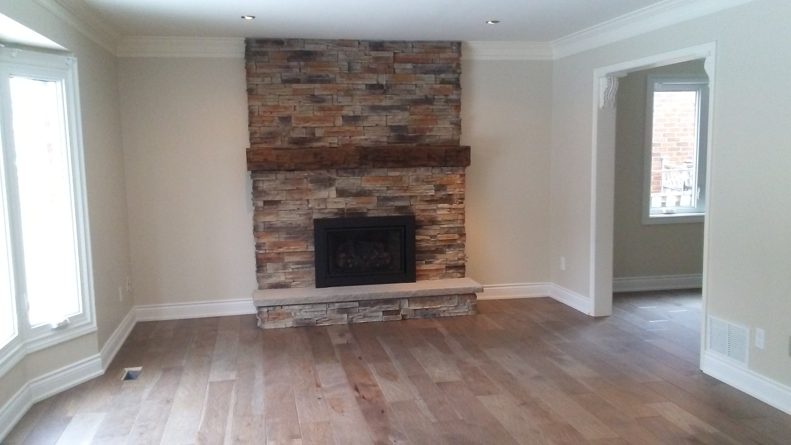 Fireplace Mantel Amp Family Room Reno My Road To Wealth