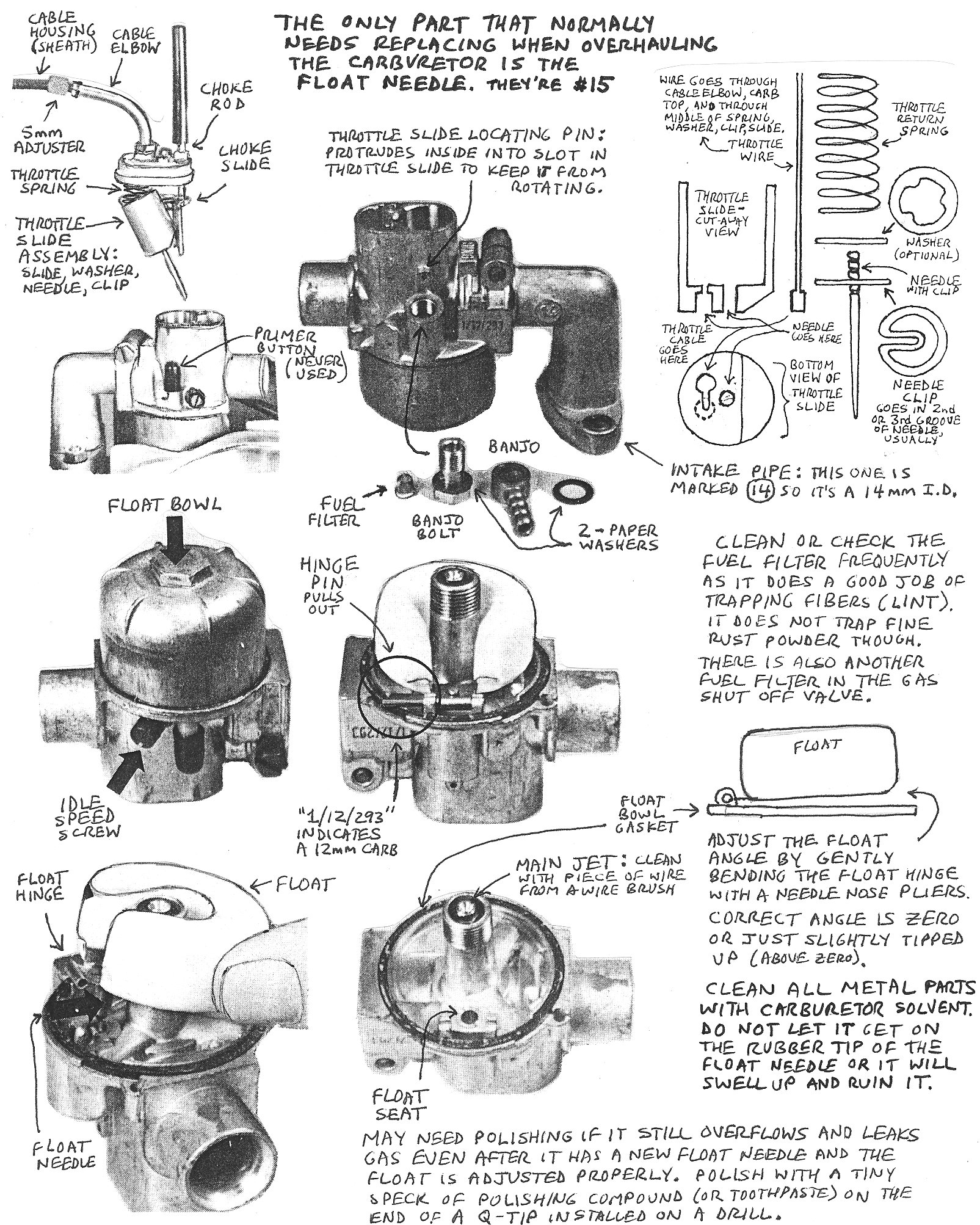 Puch Carburetor Service Myrons Mopeds