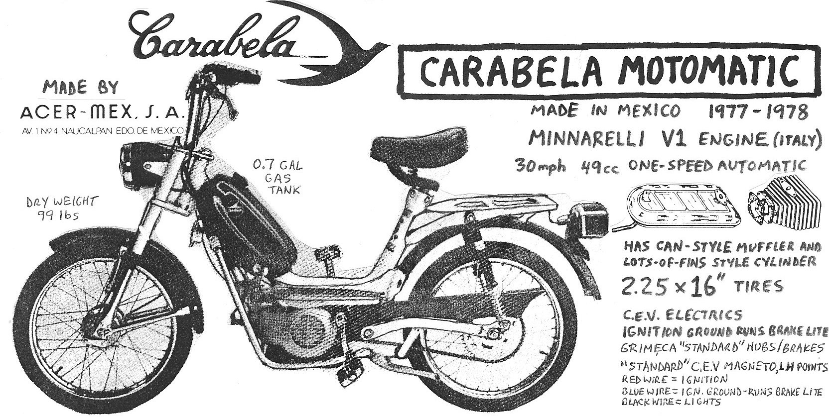 Carabela Parts Myrons Mopeds