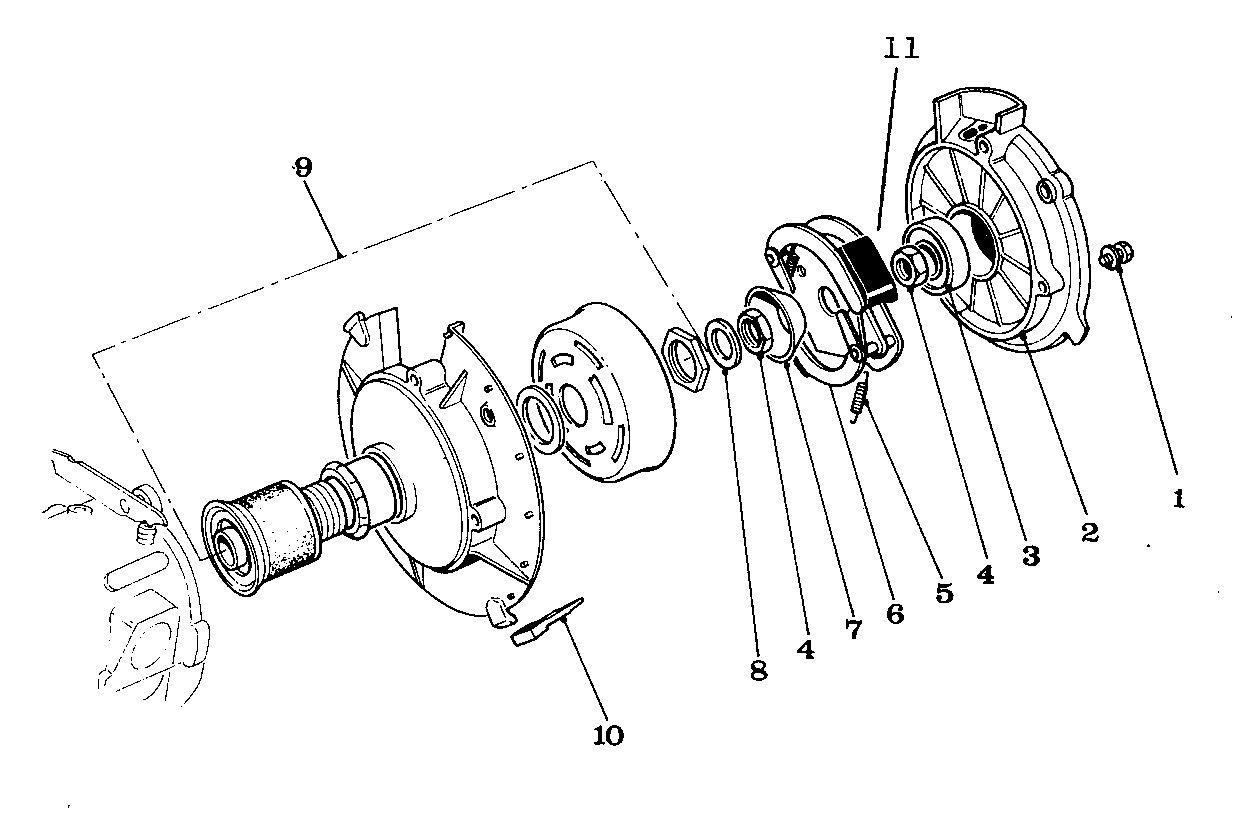 Solex parts figure 2 clutch and drive roller