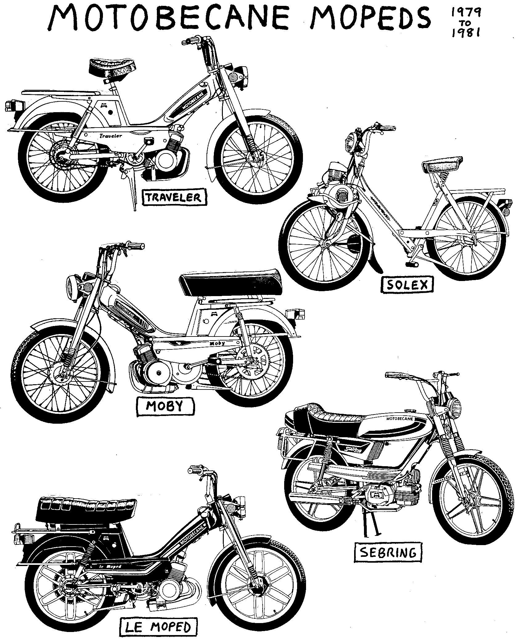Motobecane Parts Myrons Mopeds