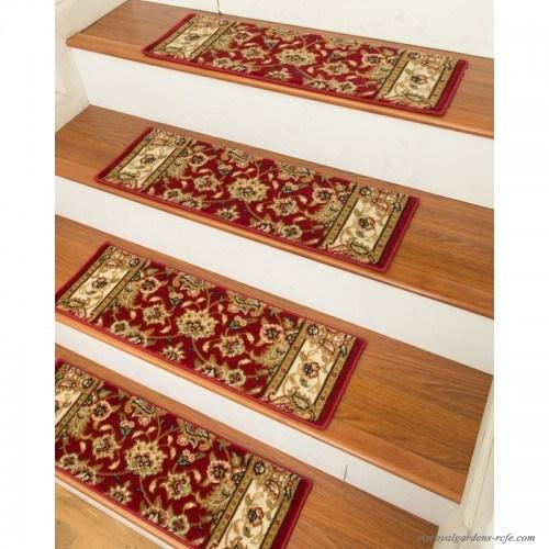 Natural Area Rugs Essen Classic Persian Stair Tread Nru1516 | Natural Area Rugs Stair Treads | Non Slip | Malvern | Slip Resistant | Polypropylene Carpet | Beige