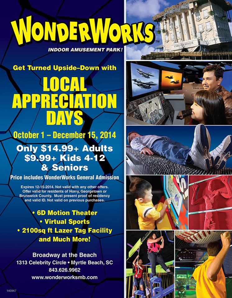 WonderWorks Myrtle Beach on Facebook